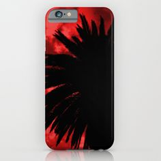 Palm Trees Silhouette - Red Sunset iPhone & iPod Case