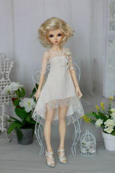 Lace dress for Minifee MSD BJD 1/4 size от ElenaShowRoom на Etsy