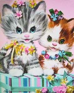 Kitten vintage card