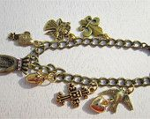 Bronze charm bracelet with lobster clasp
