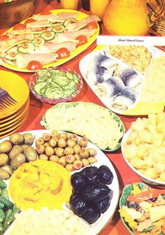 blinding olive and fish buffet - Buffet Retro Cuisine