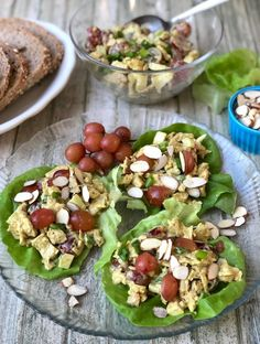 Vegan Chicken Salad, Chicken Salad With Grapes, Easy Vegan Curry, Vegan Mayonnaise, American Dishes, Slow Roast, Baked Tofu, Sliced Almonds, Vegetarian