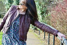 AllSaints oxblood biker jacket