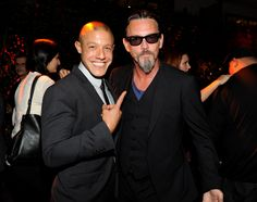 """Theo Rossi and Tommy Flanagan at FX's """"Sons of Anarchy"""" Season 6 Premiere Screening and Party. #SOAFX"""
