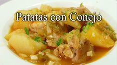 Patatas con Conejo / Receta Casera Tradicional / Rica Barata y Fácil   Carne, Chicken, Meat, Food, Homemade Recipe, Potatoes, Easy Recipes, Postres, Rabbit Recipes