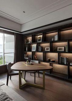 ideas home office design dark wood Apartment Interior, Home Interior, Interior Architecture, Luxury Interior, Home Office Design, Home Office Decor, House Design, Home Decor, Office Style