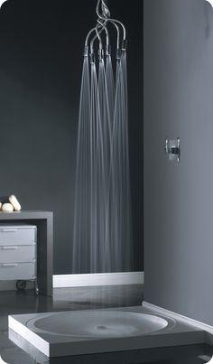 Ideas de baños pequeños con ducha 2016: Atrévete con una ducha de estilo moderno y ahorra espacio en tu baño