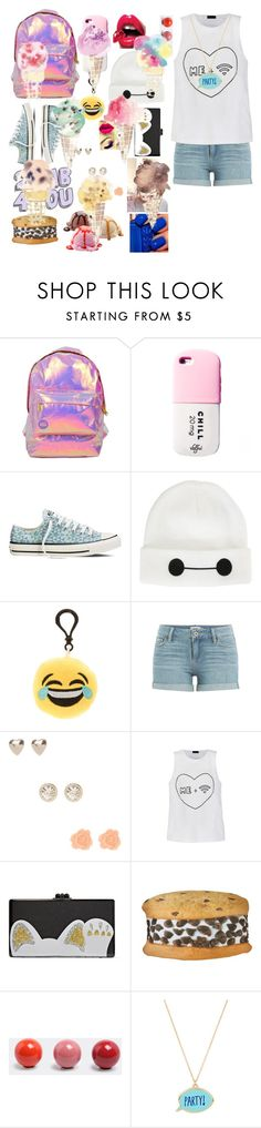 """"""""""" by treelights29 ❤ liked on Polyvore featuring Miss Selfridge, Converse, Laneige, Disney, claire's, Paige Denim, Ally Fashion, Edie Parker, Iscream and Vitra"""