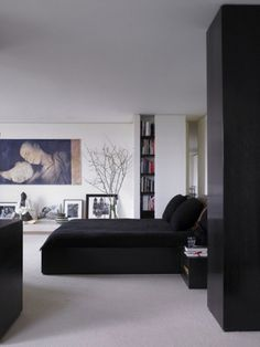 I madly love This bedroom in Donna Karan's appartement!!