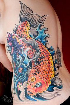 Znaczenie tatuażu Ryba Koi
