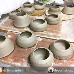 Repost from @mossstitch Busy afternoon throwing nicely getting my stock up! @stonesthrowe11 @e17designers @urbanmakerseast @makewansteadmarket #ceramics #clay