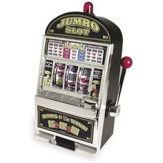 Jumbo Slot Machine Vegas Style Coin Savings Bank This is a real action casino style slot machine. It fits perfectly on your desk, in your home office or business.  http://awsomegadgetsandtoysforgirlsandboys.com/cool-gadgets-for-teenage-guys/ Cool Gadgets For Teenage Guys: Jumbo Slot Machine Vegas Style Coin Savings Bank