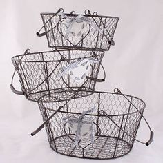Drátěný košík 3 ks Plastic Laundry Basket, Home Decor, Decoration Home, Room Decor, Home Interior Design, Home Decoration, Interior Design