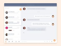 Amazing Chat Interface Inspiration: Conversation by Anton Chandra: Dashboard Design, App Ui Design, Chat Web, Interaktives Design, Email Application, Desktop Design, Ui Design Inspiration, Daily Inspiration, Calendar Design