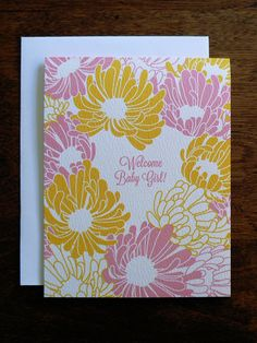 BABY : Welcome Baby Girl! by littlegreencards on Etsy