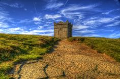 Rivington Pike - That place next door to Yorkshire. ( Lancashire ) They have a few places worth seeing. Next Door, Yorkshire, Monument Valley, Scenery, Country Roads, Lol, Places, Travel, Lugares