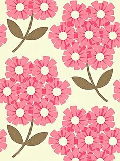 Orla Kiely House for Harlequin Giant Rhododendron Wallpaper, Pink, 110410