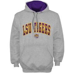 LSU Tigers Double College Mascot Hoodie - Ash #Fanatics