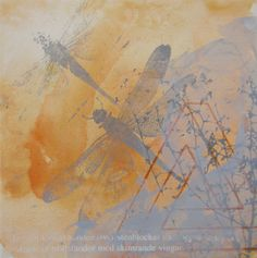 DRAGONFLIES  painting 30x30cm by Helena Sellergren