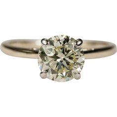 SALE ~ Yellow Solitaire Diamond Ring 14k Gold 1.15ctw Engagement Wedding