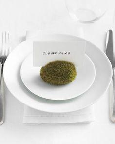 Green wedding placecards