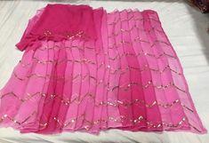 Rajasthani Chiffon Saree With Gota Patti Work Designs Simple Sarees, Trendy Sarees, Stylish Sarees, Fancy Sarees, Pakistani Dresses, Indian Sarees, Sabyasachi Sarees, Lehenga, Organza Saree