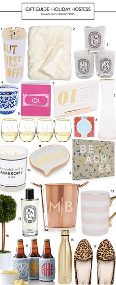 Lemon Stripes Holiday Hostess Gift Guide #holidayparty #forher #Christmas #wintertime