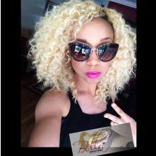 Brazilian Curly Bella Dream Blonde Hair Extensions
