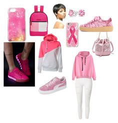 """""""Pink Out"""" by queennicki1019 on Polyvore featuring Bling Jewelry, River Island, Tommy Hilfiger, Casetify, Missguided and Puma"""