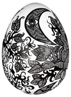 'Rebirth' by Leyla.  I wanted to show the fragility and innocence of the egg by depicting a mother and a child, symbolic of the strongest and most ancient bonds in the world. Life is full of these intrinsic cyclic relationships, empowered by mutual dependence and love.