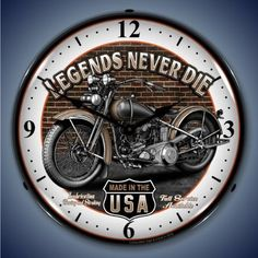 Collectable Sign and Clock SM1103308 14 Legends Motorcycle Lighted Clock >>> Visit the image link more details.