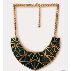 Nwot Geometric Bib Necklace