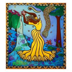Oshun, 2011 Giclee Print by Laura James at Art.com Laura James, Framed Artwork, Wall Art, African American Culture, Poster Prints, Art Prints, Posters, Tropical Art, Sale Poster
