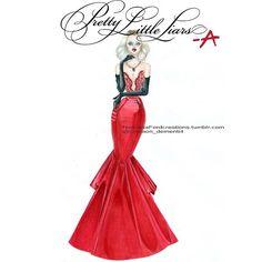 """Dollhouse Prom - Hanna Marin Dress by @sherrihill ❤️@mandiline❤️…"
