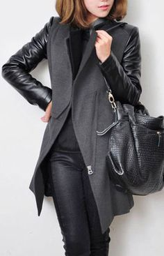 Bent Neck Open Front Thick Coat (More Colors Available)