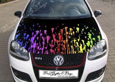 Color Drops Full Color Graphics Adhesive Vinyl Sticker Fit Any Car Hood 195 | eBay