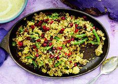 Vartissa valmis jauhelihakuskus maustetaan marokkolaisittain yhdessä pannussa. Koko ruuan hinnaksi tulee alle 10 euroa, kun maustekaappi on kunnossa!
