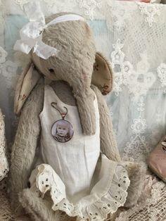 Whimsical Vintage cream colour Handmade by olivegroveprimitives