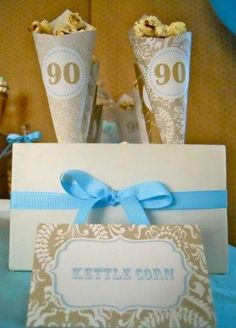 90th Birthday Party Ideas  Thought this was beautiful and fun... may not fit with our theme