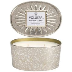 Voluspa Oval Tin Two Wick Candle