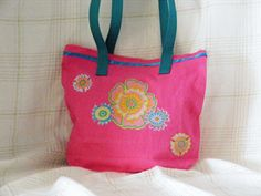 <#MediumToteBag  #for mothers day #OneOfAKind #hand dyed #appliqued  #www.zibbet.com/masbags