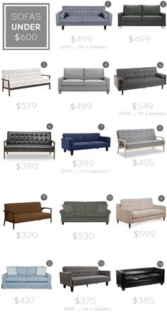 Best Sofas under $600_budget sofa_modern_midcentury_affordable_roundup_emily henderson