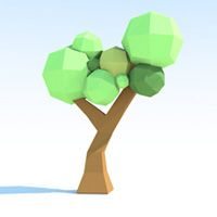 Low-Poly Paper Tree Creation & GI Baking in Cinema 4D - Tuts+ 3D & Motion Graphics Tutorial.