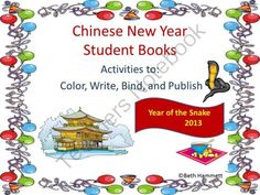 New Year Giveaway - Updates yearly to reflect current year's information! Introduce the Chinese New Year to students with this 31 page overview chocked full of activities that include:  Directions for use with extensions and modifications How to make a book instructions Overview Sheet Map of China with symbols Calendar for each day with activities Breakdown of days with meanings and activities Symbolism activities Background Info on Chinese New Year Coloring Images with activities Extra Re…