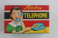 ASC Tin toy Baby Telephone, Made in Japan, 1950s - 60s