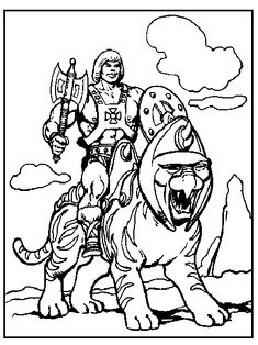 He-Man Coloring Pages
