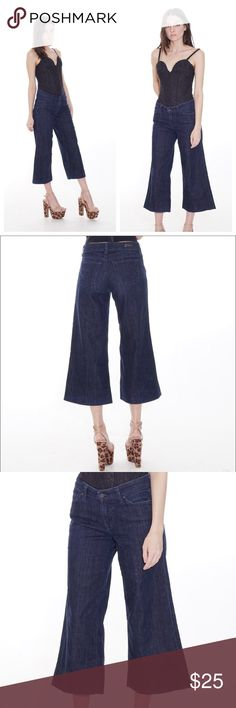 "denim gauchos Ditch your boring jeans & get this sought after wide leg silhouette with these Citizens of Humanity Palazzo Pants in Garbo. This universal flattering jean makes getting dressed way more fun!  •Excellent Condition  MEASUREMENTS  •Size 25 •Rise 7.5"" •Inseam 23""  🌈All photos are of the actual item being sold. No trades or holds. Items will ship within 1-2 business days. Citizens Of Humanity Jeans"