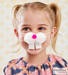 Funny Bunny: Slip on some whiskers for extra giggles at the egg hunt.