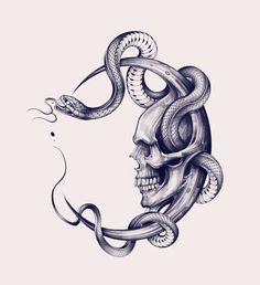Spooky Tattoos, Skull Tattoos, Body Art Tattoos, Sleeve Tattoos, Tatoos, Skull Tattoo Design, Tattoo Design Drawings, Tattoo Sketches, Karten Tattoos