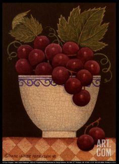 Cup o' Grapes Art Print by Diane Pedersen at Art.com